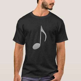 Silver Music Note T-Shirt