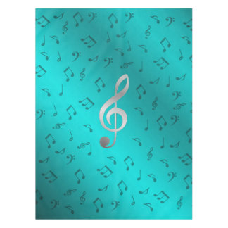 silver music notes tablecloth