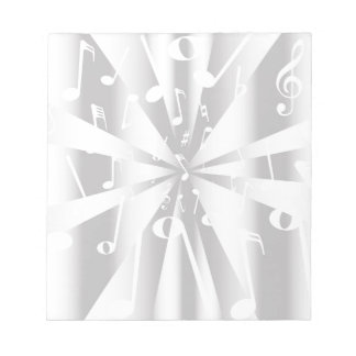 Silver Musical Notes Background