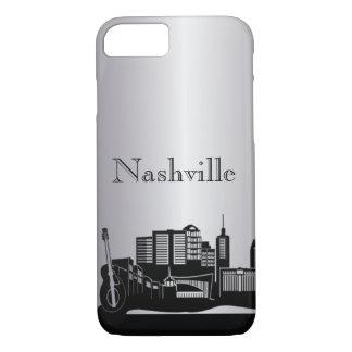 Silver Nashville Silhouette Phone Cases