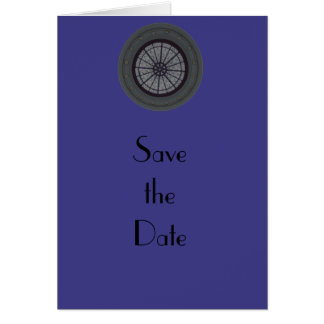Silver & Navy Modern Save the Date Greeting Card