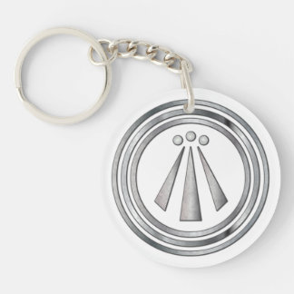 Silver Neo-Druid symbol of Awen 3 - Key Chain
