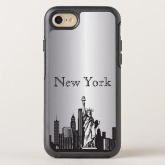 Silver New York Skyline Silhouette Case