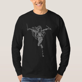 Silver Ninja Girl T-Shirt