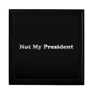 silver Not My President Gift Box