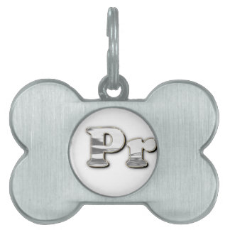 silver Not My President Pet Tag