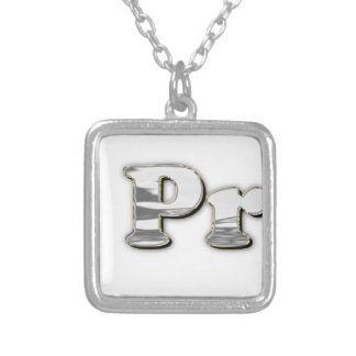 silver Not My President Silver Plated Necklace