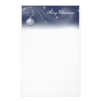 Silver Ornament Christmas Stationery