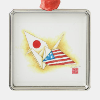 Silver Ornament ~ Japan-U.S. Friendship
