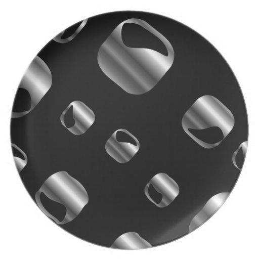 Silver Ornamental background Dinner Plates