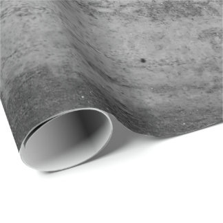 Silver Paint Aquarell Black Graphite Abstract Wrapping Paper