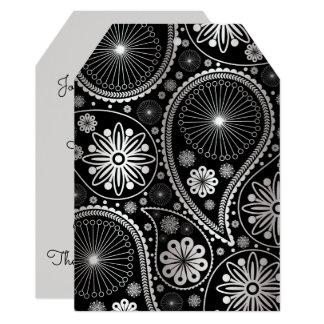 Silver paisley pattern card