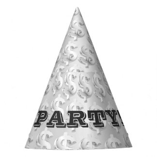 $ Silver $ Party Hat