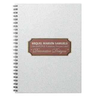 Silver Pattern Decorative Modern Notebook