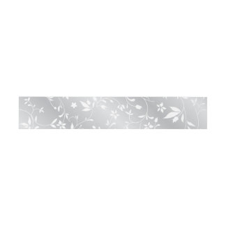 Silver Pattern Floral Belly Band Invitation Belly Band
