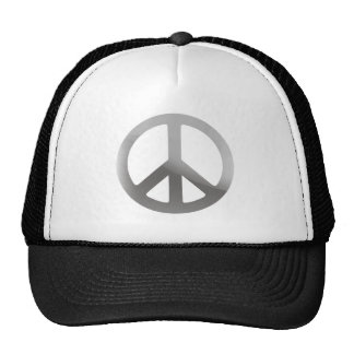Silver Peace Sign Mesh Hats