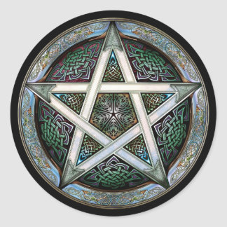 Silver Pentacle Stickers