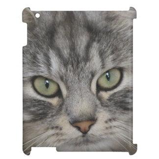 Silver Persian Cat Face iPad Case