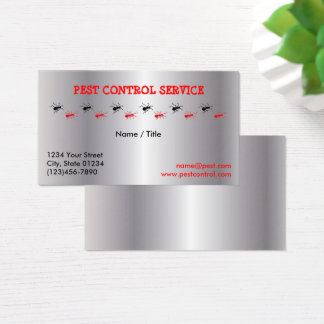 Silver Pest Service Single Sided Business Card