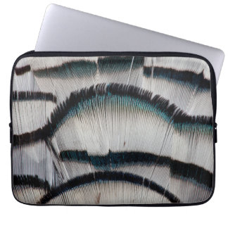 Silver Pheasant feathers Laptop Sleeve