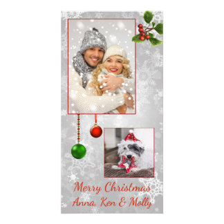 Silver Photo Christmas Card