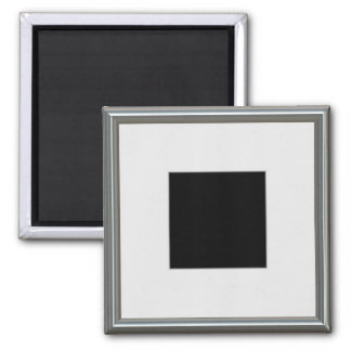 silver picture frame layout square magnet