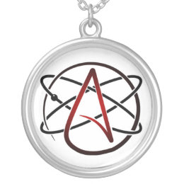 Atheist necklaces atheist necklace jewellery online zazzle silver plated atheist necklace aloadofball Gallery
