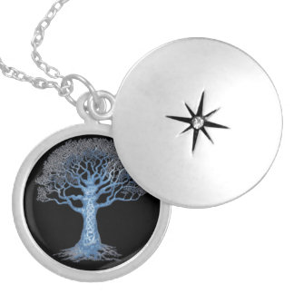 Silver Plated Family Tree Necklace