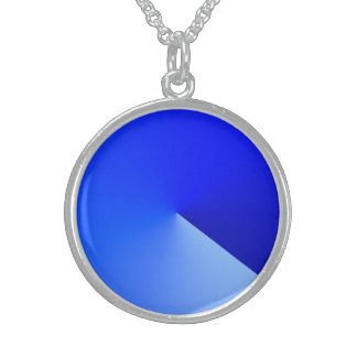 Silver Plated Necklace in Bluish Style