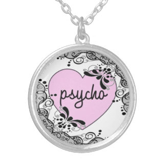 "Silver Plated ""Psycho"" Necklace"