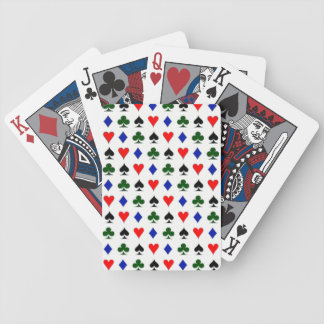 Silver Poker Suits Bicycle Playing Cards