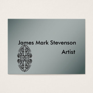 Silver polished finish business cards