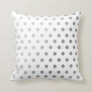 Silver  Polka Dots Pattern Cushion