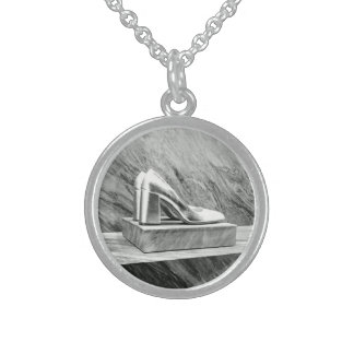 Silver Prada shoes 2015 Sterling Silver Necklace