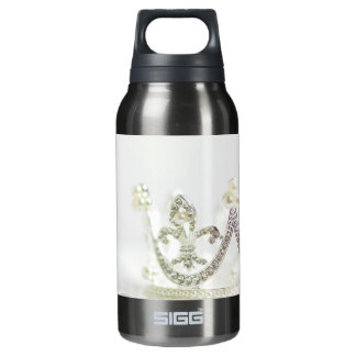 Silver Princess Crown Insulated Water Bottle
