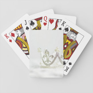Silver Princess Crown Playing Cards