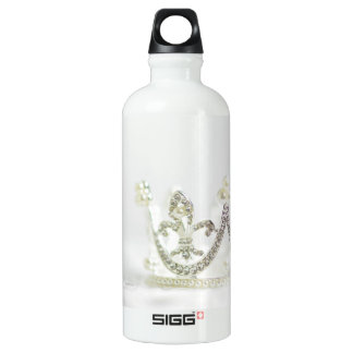 Silver Princess Crown Water Bottle