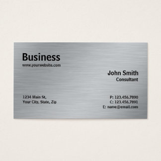 Silver Professional Elegant Metal Modern Plain
