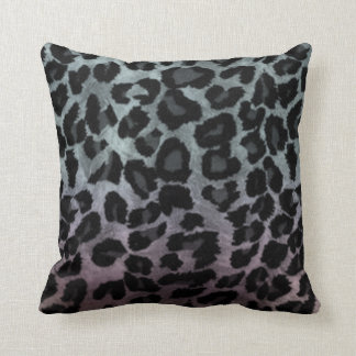 Silver Rainbow Effect Cheetah Cushion