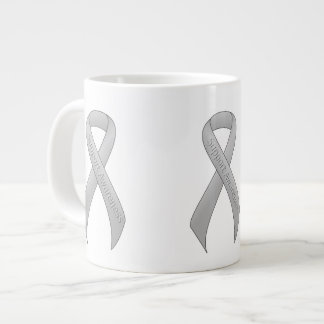 Silver Ribbon Support Awareness Large Coffee Mug