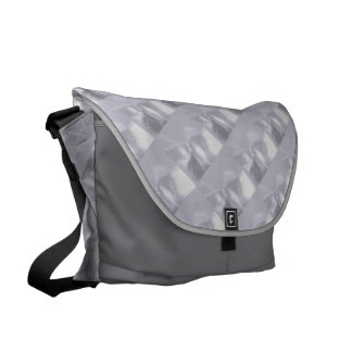 Silver Ripple Courier Bag