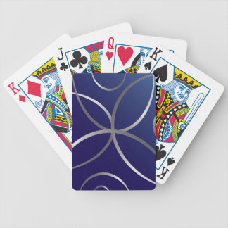 Silver roads bicycle playing cards