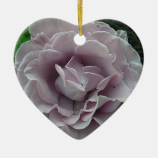 Silver Rose Ceramic Heart Decoration