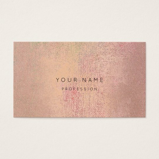 Silver Rose Gold  Blush Abstract Appointment Card