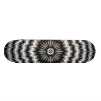 Silver Rosette Skateboard