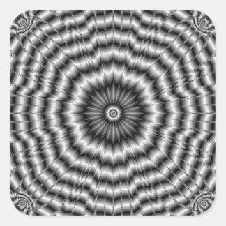 Silver Rosette Square Sticker