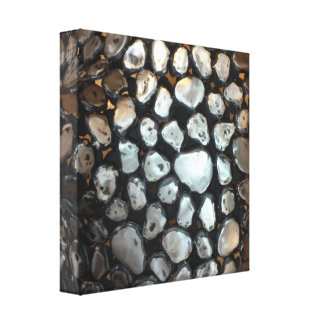 Silver Rounds Stretched Canvas Prints