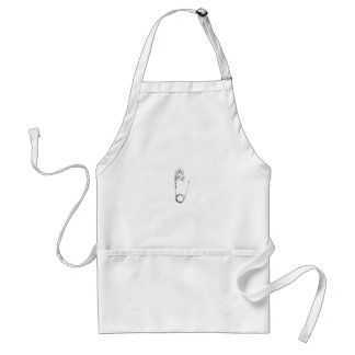 silver safety pins standard apron