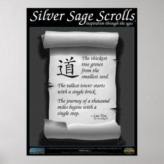 Silver Sage Scrolls™ 002: Lao Tzu; Goals Poster