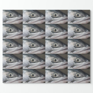 Silver Salmon Face Wrapping Paper